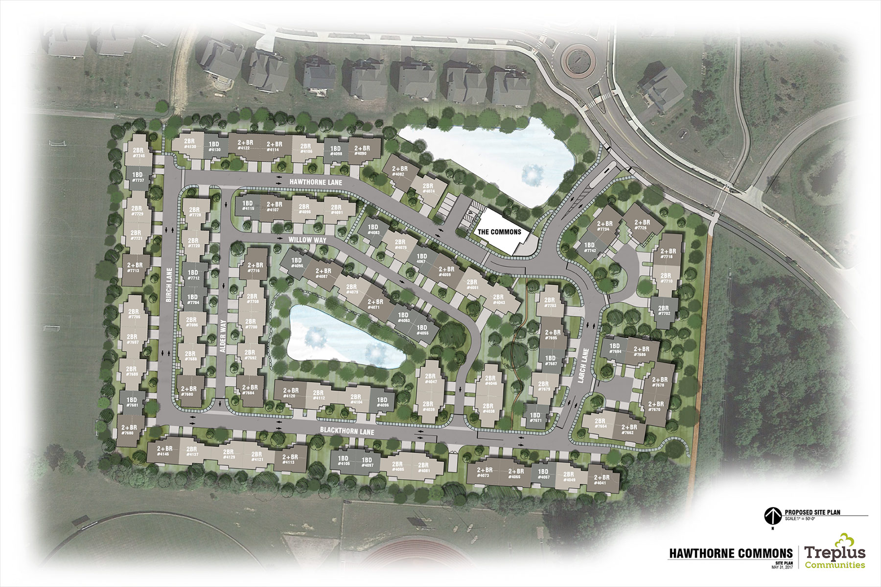 Hawthorne Commons Site Plan of Dublin Ohio apartments