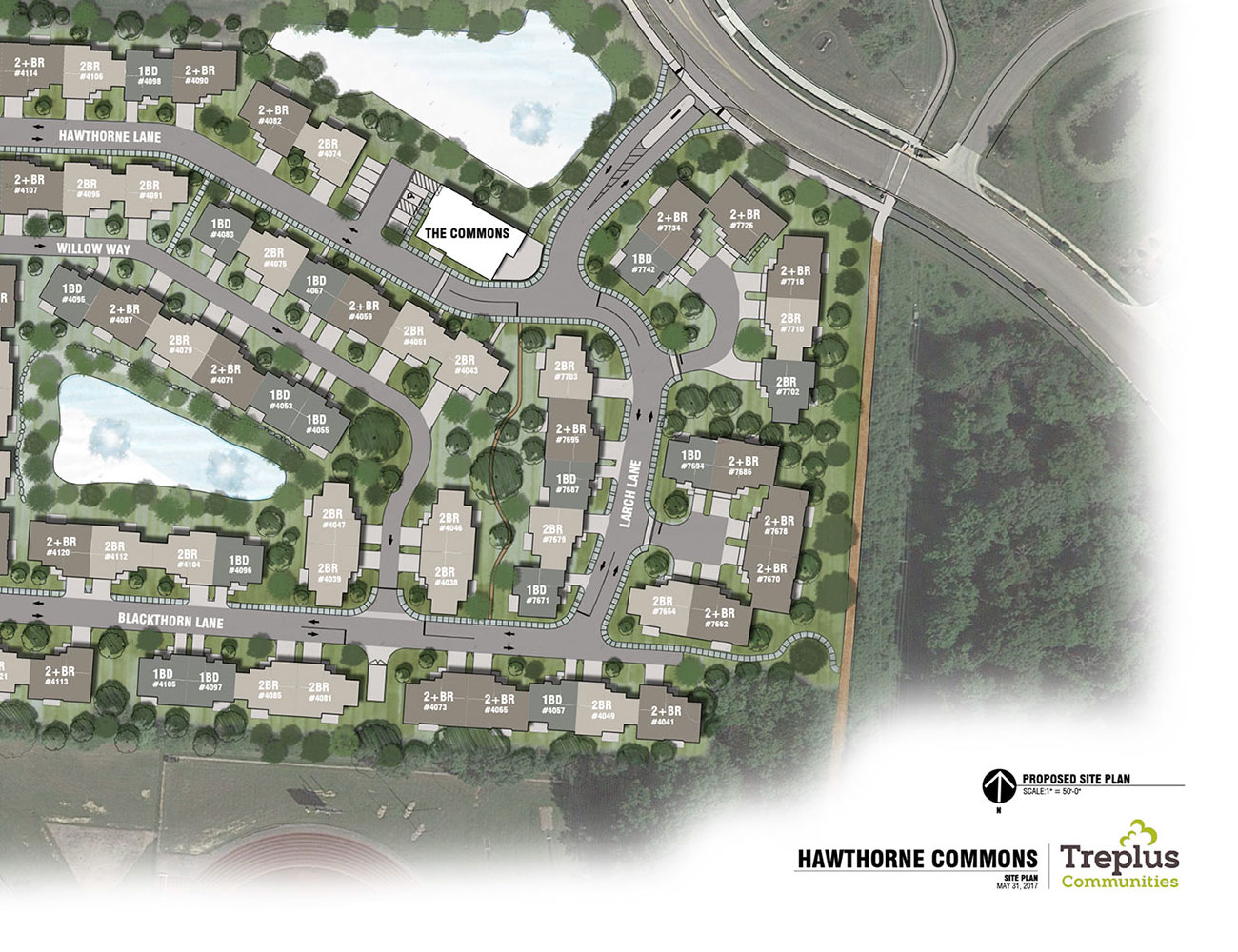 Featured Hawthorne Commons Site Plan