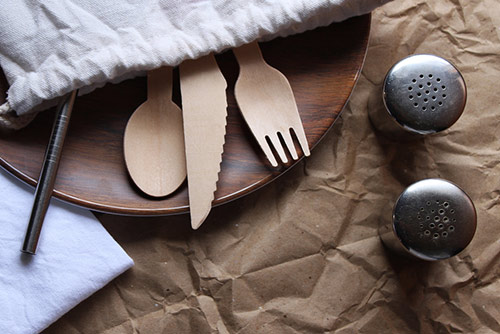 bamboo utensils for eco-minded active adults