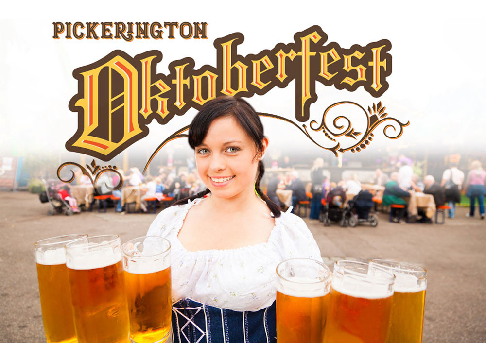 girl in German outfit at the Pickerington Oktoberfest