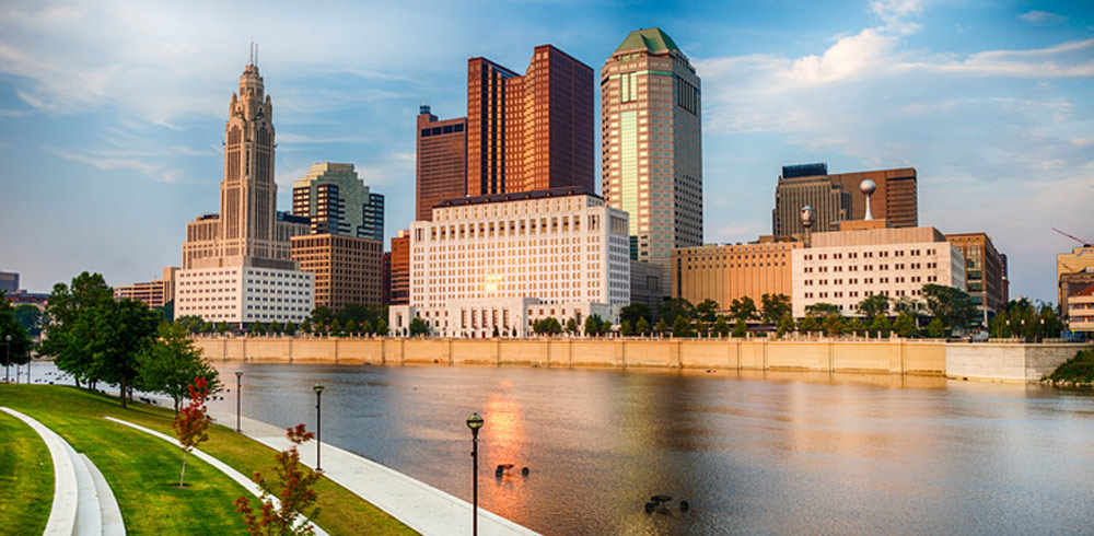skyline of the city of Columbus Ohio