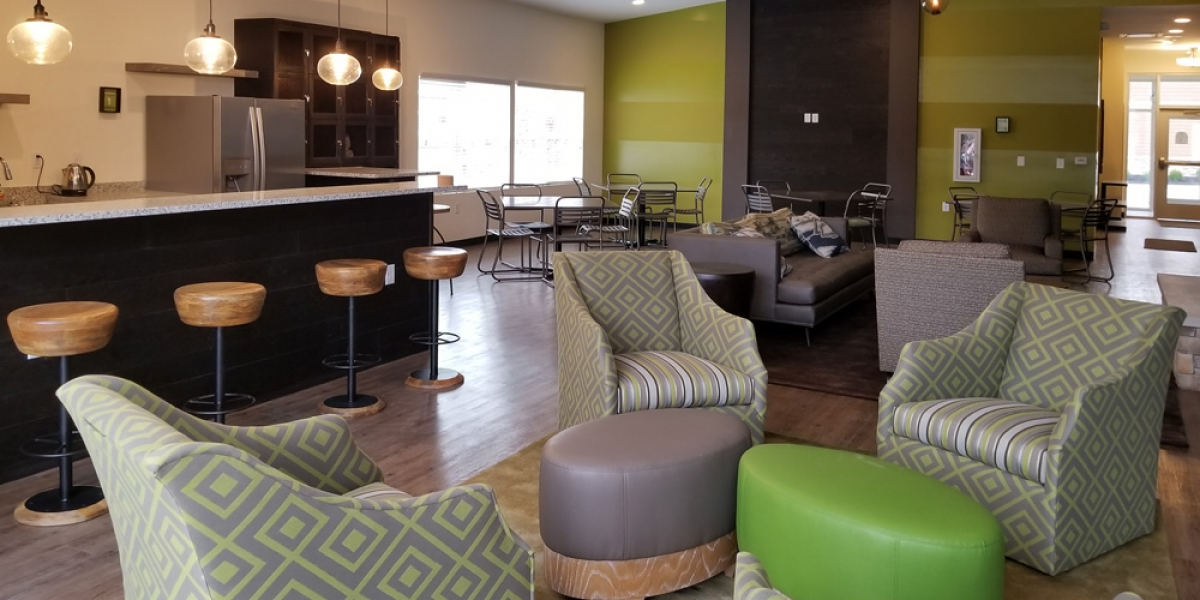 interior of club house by open floorplan luxury apartments in dublin ohio