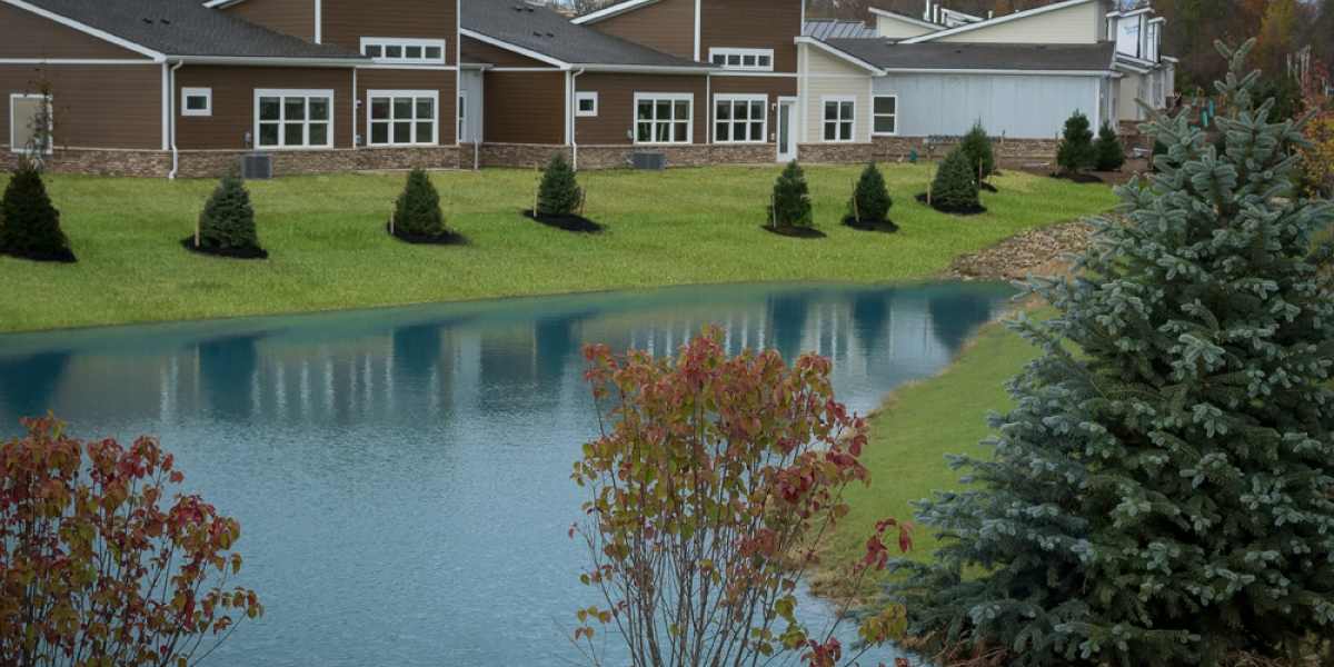 pond by open floorplan luxury apartments in pickerington ohio