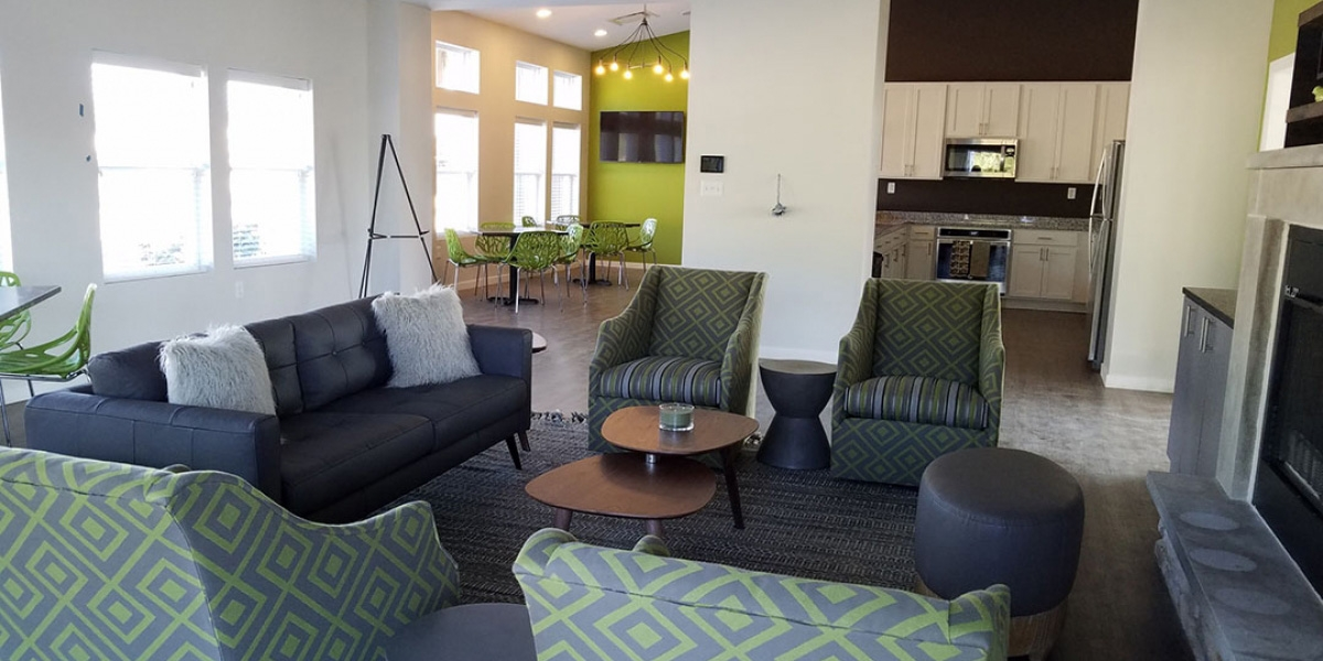interior of clubhouse in luxury apartments Delaware Oh