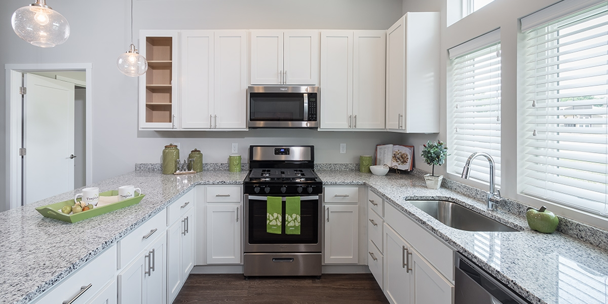 kitchen in luxury apartments for downsizing adults