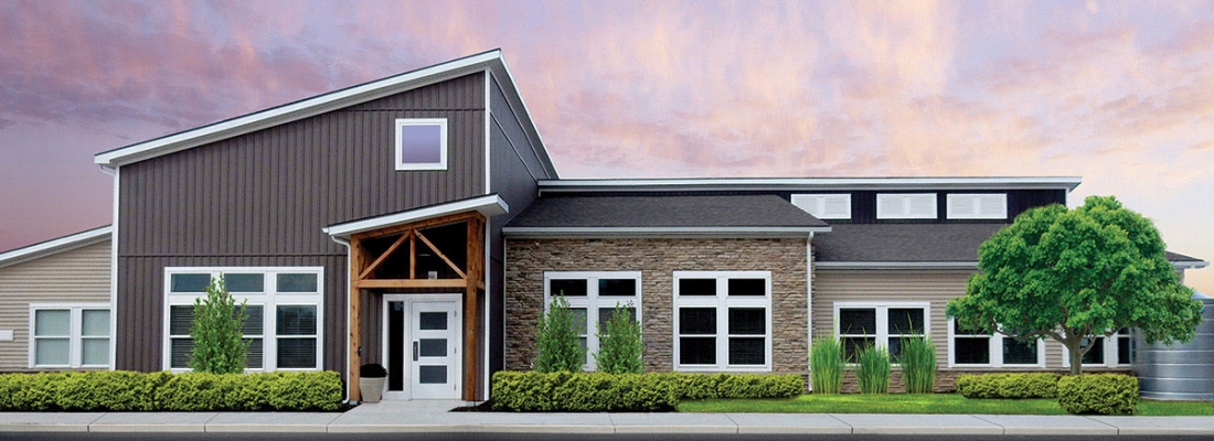 redbud commons exterior at pickerington ohio luxury apartments